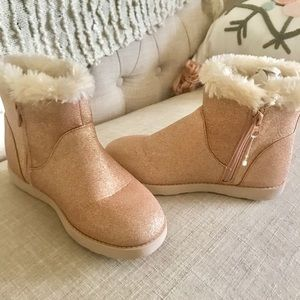🆕Cat and Jack Pink Sparkle Booties Girls Sz 2